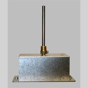 "Mamac 4"" Pipe Immersion Temperature Sensor, Galvanized Steel Enclosure"